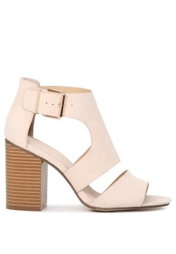 London Rag beige Sheila Ankle strap Sandals 52C9ASHE7C38BEGS_1