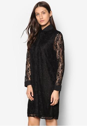 透膚長袖蕾絲連身裙, 服飾, 京站 esprit洋裝