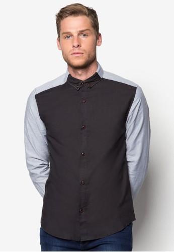 色塊拼接長袖襯衫, 服飾esprit女裝, 襯衫