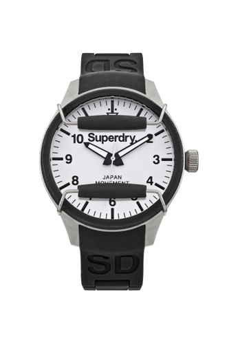 Superdry black and white Superdry Scuba SYG124W Men's Watch 77FBFAC353DCC5GS_1