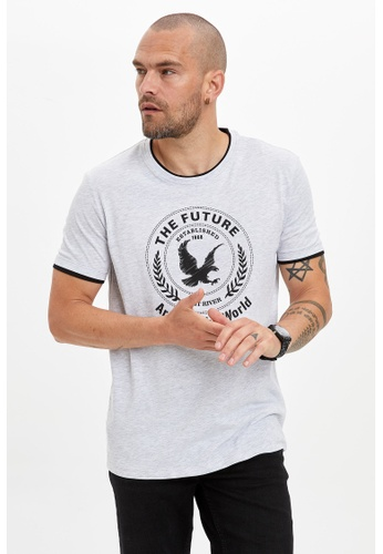 DeFacto grey Man T-Shirt 890BAAA582AC24GS_1