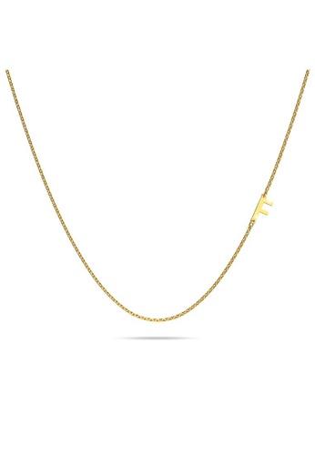 Bullion Gold gold BULLION GOLD Dainty Alphabet Letter Necklace Gold Layered Steel Jewellery - F B6BDEACE1E1692GS_1