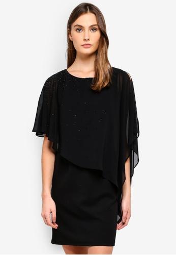 8f9331dba0c Wallis black Petite Black Sparkle Asymmetric Overlay Dress  4E635AAAD19BD7GS 1