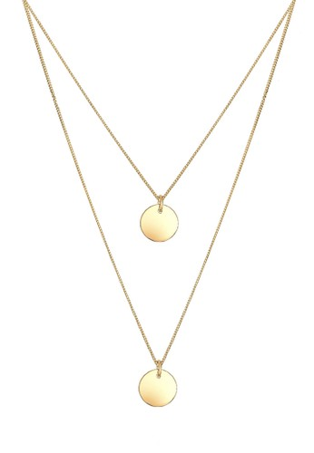 層次圈 925 純銀鍍金項鍊, 飾品配件, 項esprit retail鍊