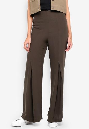 Alia B. green Della Flared Trousers D4119AAB8343E9GS_1