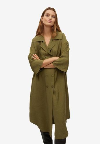 Mango green Double-Breasted Dress 790EEAAE97A573GS_1