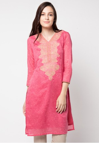 Chanira Festive Collection pink Roselyn Embroidered Festive Tunic CH354AA57BISID_1