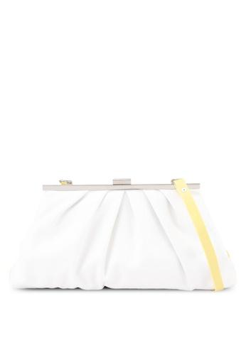 Keddo white and yellow Ryo Sling Bag 5C84AACFB25499GS_1