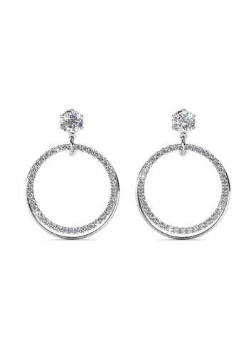 Her Jewellery silver Ariel Earrings -  Embellished with Crystals from Swarovski® 338D9AC52F5F82GS_1