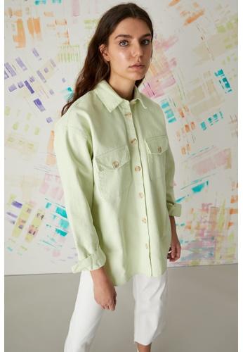 DeFacto blue Long Sleeve Cotton Shirt Tunic 4D091AAFBA83F4GS_1