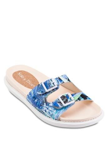 Mae 花卉印花寬帶涼鞋esprit 台北, 女鞋, 鞋