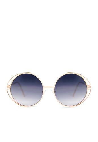 ASLLY black and multi Nap│Black Round Sunglasses 38844GL5F764BFGS_1
