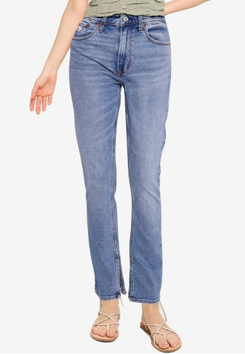 Abercrombie & Fitch blue High Rise Skinny Jeans 2844FAA8A90364GS_1