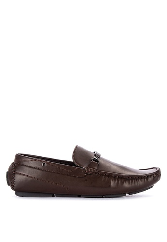 H2Ocean brown Naoise Mens Loafers with Metallic Embellishment 0A25ASHB3D9A2BGS_1