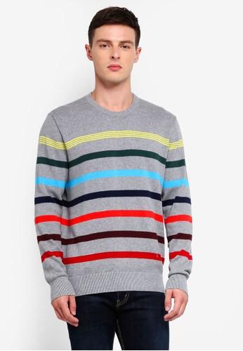 GAP grey Crazy Breton Stripe Sweater EF51FAAE7D6956GS_1