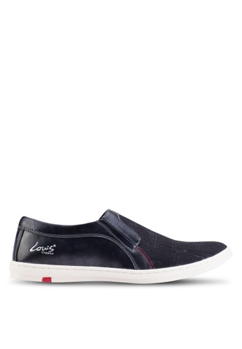 Louis Cuppers black Basic Canvas Slip Ons LO977SH89ZJIMY_1