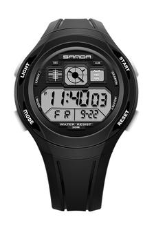 ... SANDA 331 LED Young Ladies & Men Unisex Waterproof Digital Wrist Watch (Full Black)