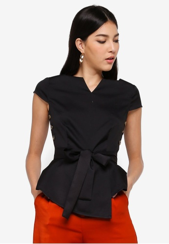 ZALORA black Square Neck Top 23997AA3AAAEF1GS_1