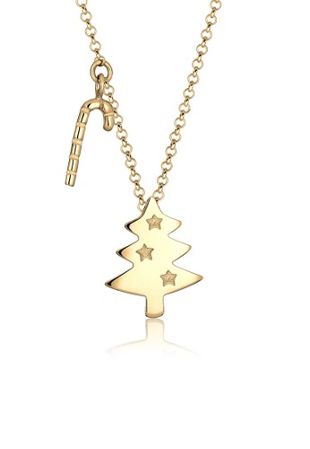 Elli Germany gold 925 Sterling Silver Kalung Christmas Tree Candy Lapis Emas Emas 7AA60ACF9EE0E3GS_1