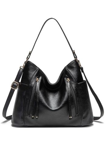 Halo black Vintage Three Way Crossbody Bag 45341ACB04E77DGS_1