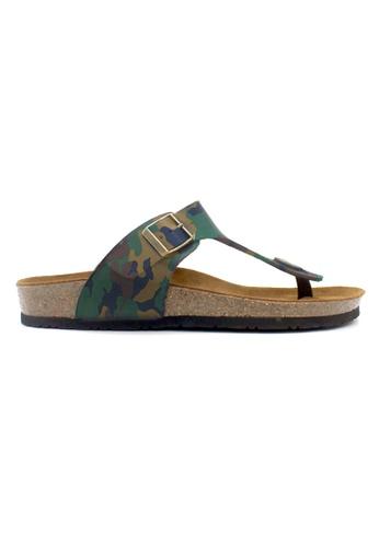 SoleSimple multi Rome - Camouflage Leather Sandals & Flip Flops 415C7SHBDEC099GS_1