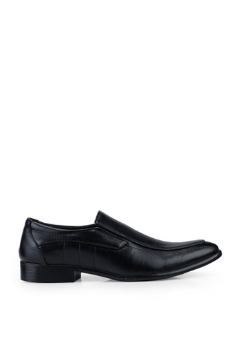 UniqTee black Slip On Formal Shoes B235FSH7621D61GS_1