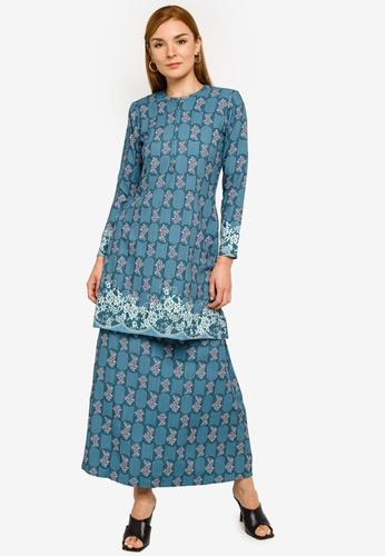 REALFANTASY blue Ameline Kurung Turquoise 12186AA4A6EA07GS_1