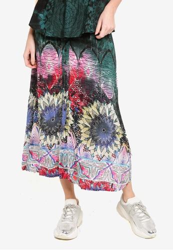 Desigual green Florencia Skirt B9D71AAE669FB4GS_1