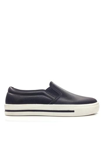 Twenty Eight Shoes black PVC Waterproof Slip On Rain Shoes VG121 TW446SH87RUEHK_1