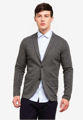 ESPRIT 灰色 針織西裝外套 C1C75AA7EE9146GS_1