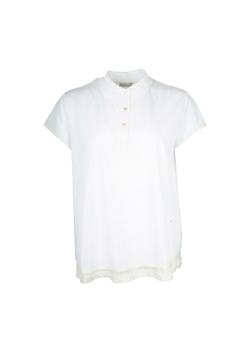Moncler white Moncler layered Polo Tee in White F36C4AA0C5BF53GS_1