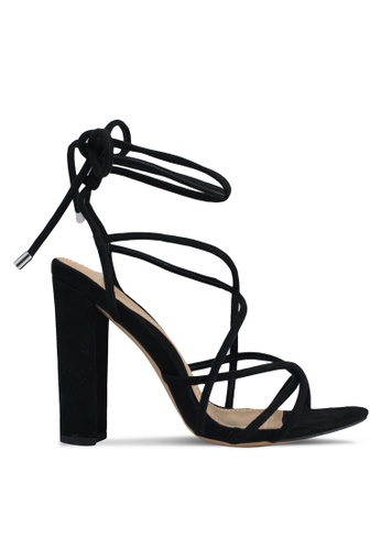 MISSGUIDED black Black Multi Strap Sandals 2945FSH895BCDFGS_1