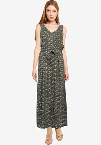 JACQUELINE DE YONG green Staar Life Sleeveless Maxi Dress C9B75AA0C3DD64GS_1