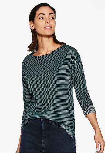 ESPRIT green 3/4 Sleeve Sweatshirt B2CE0AA23B7CD7GS_1