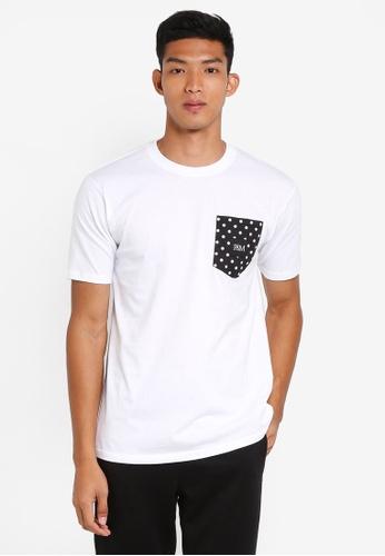 Pestle & Mortar 白色 圓點口袋T恤 EA428AA05615CAGS_1