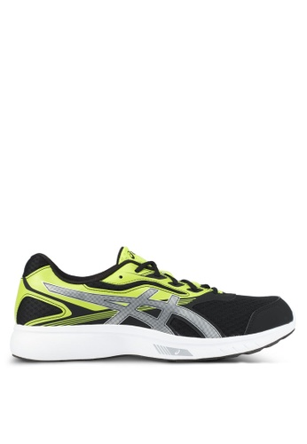 Asics black and green and silver Stormer Shoes AS989SH0SD3LMY_1