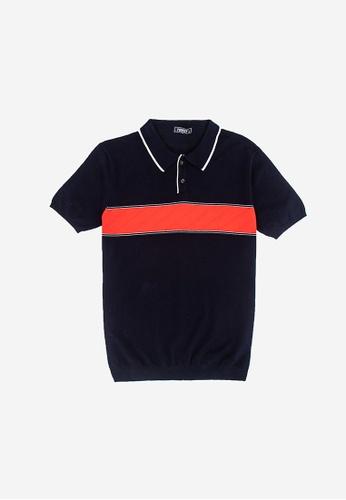 FOREST blue Forest Fancy Knitted Polo T Shirt Men Knitwear - Baju Sweater Lelaki Knitwear  - 23285 - 30DkBlue 153F7AA5301E84GS_1