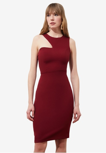 Trendyol red Cut Out Detail Dress 2F307AA451FF45GS_1