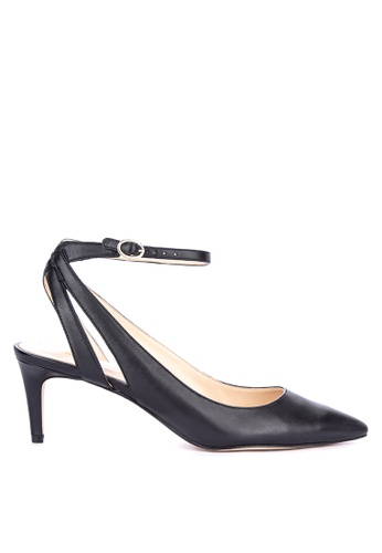 8d5d2ac3461b Nine West black Shawn Closed Toe Heels With Ankle Strap 4EE53SHFB5A465GS 1