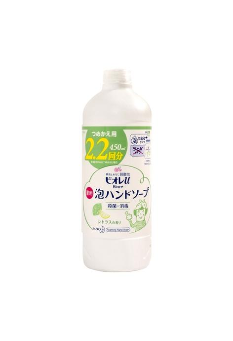 KAO KAO Biore 泡沫洗手液(柑橘香-綠色) (補充裝) 450ml