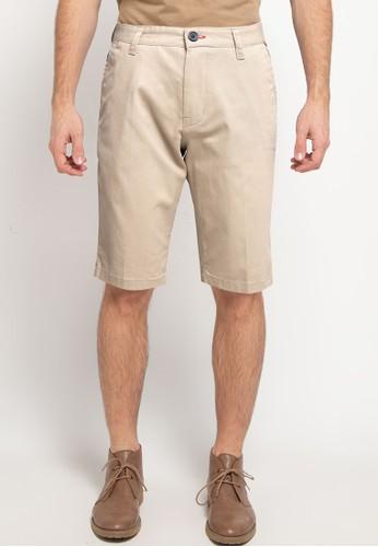 Denim Addict beige Men Twill Short Pants 5B645AA9D99C41GS_1