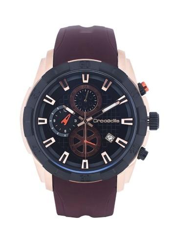 Crocodile Timepiece brown Jam Tangan Pria Analog Sports Chrono Strap Kulit CM-036D34F Tali Silicon Brown 818FDAC8EB0C01GS_1