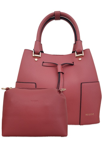 RUCINI red Rucini Bucket Bag with Pouch Red E97EBAC2A2F064GS_1