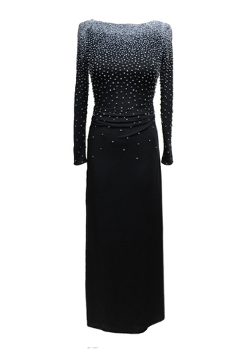 92899c1d49 ANNE F black Luxe Pearls Beaded Evening Gown AN664AA2VY7DHK 1