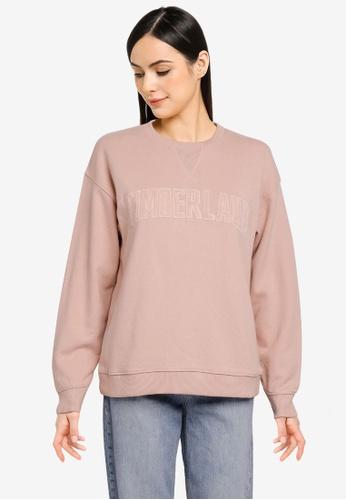 Timberland pink Ecoriginal Corduroy Logo Sweatshirt 90F86AA111F1F6GS_1