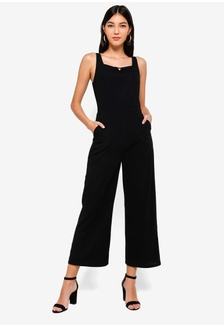 8b6f56248f75 Buckle Detail Square Neck Jumpsuit 908C0AA1C08F8AGS 1