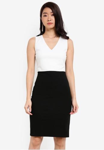 ZALORA black Essential Colourblock Dress 8B1F2ZZ8BD0B48GS_1