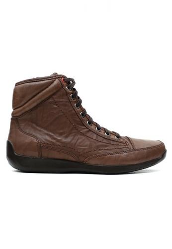 Gino Mariani brown Gino Mariani Men's Leather Shoes ELARIO 2 - DK BROWN 328A4SH250AE5EGS_1