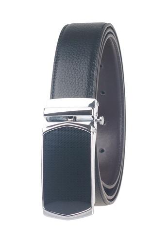FANYU black Men Full Grain Leather Belt Pin Buckle Black FA549AC67CMUSG_1