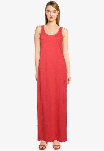 ONLY red May Life V-neck Dress 9D6EAAA98E5900GS_1